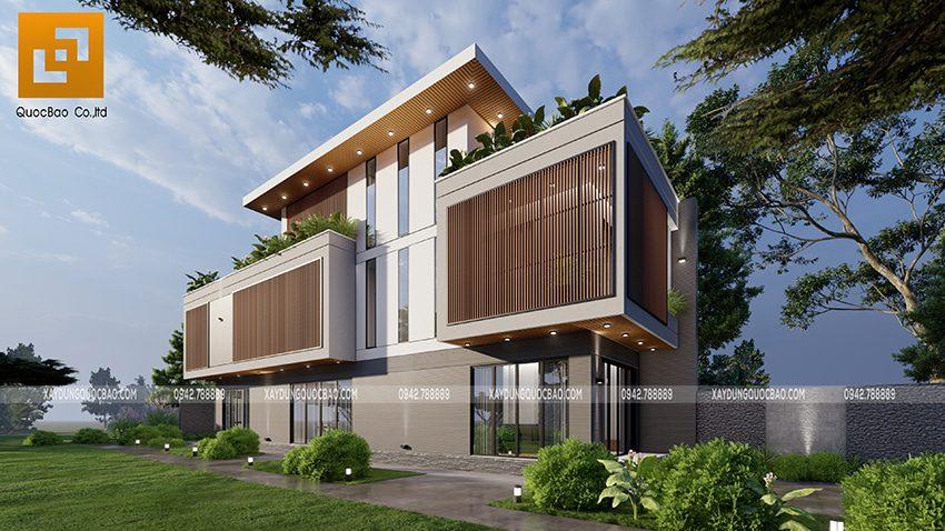 Biệt thự 3 tầng thiết kế hiện đại, độc đáo tại Bình Dương - Ảnh 1