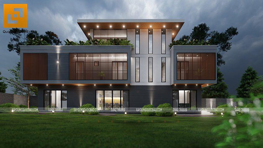 Biệt thự 3 tầng thiết kế hiện đại, độc đáo tại Bình Dương - Ảnh 9