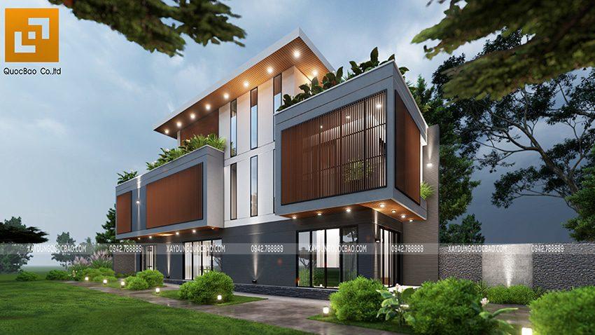 Biệt thự 3 tầng thiết kế hiện đại, độc đáo tại Bình Dương - Ảnh 8