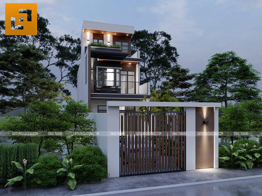 Phối cảnh thiết kế ngoại thất nhà 3 tầng của gia đình chú Thắng - Ảnh 7