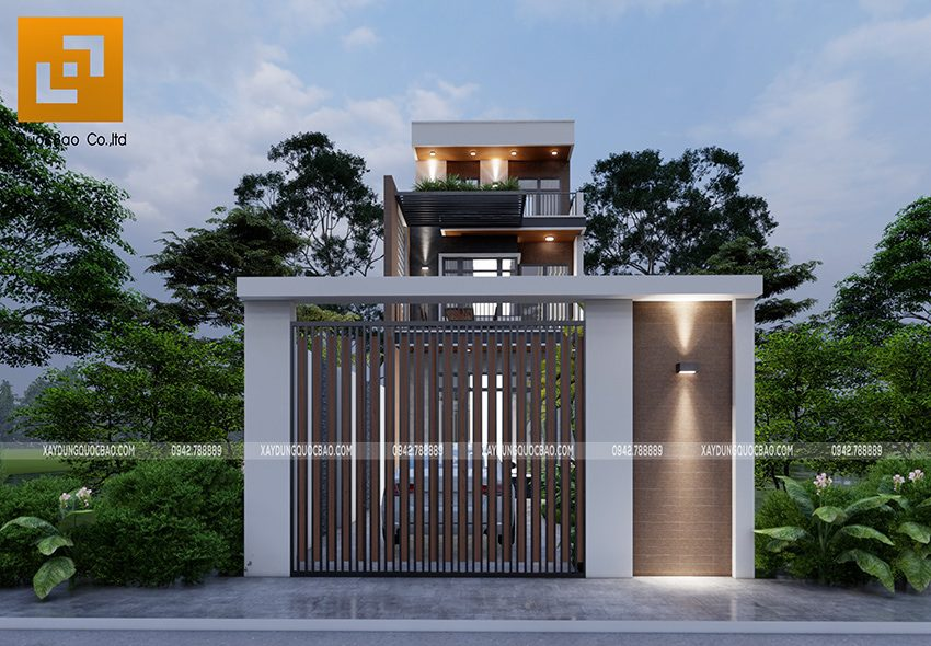 Phối cảnh thiết kế ngoại thất nhà 3 tầng của gia đình chú Thắng - Ảnh 6