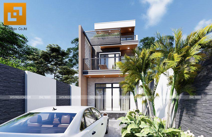 Phối cảnh thiết kế ngoại thất nhà 3 tầng của gia đình chú Thắng - Ảnh 5