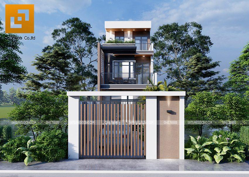 Nhà phố 3 tầng đẹp mặt tiền 6m tại Nhơn Trạch