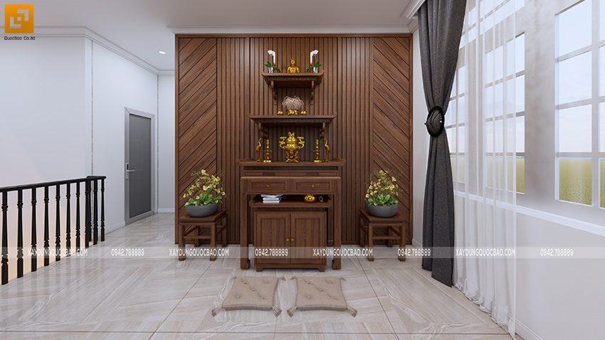 Bàn thờ Phật sử dụng gỗ nguyên khối cao cấp