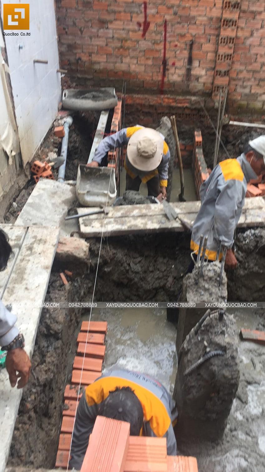 Thi công phần móng biệt thự 3 tầng tại Thủ Dầu Một - Ảnh 7