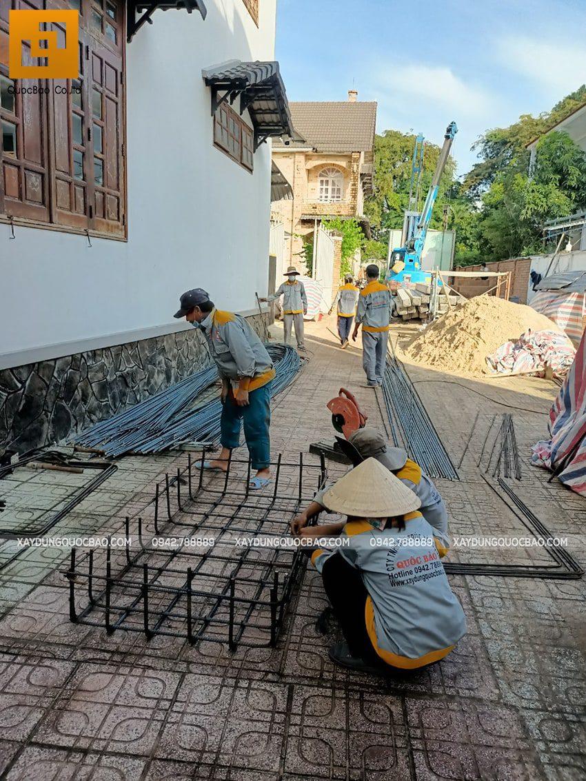 Thi công phần móng biệt thự 3 tầng tại Thủ Dầu Một - Ảnh 6