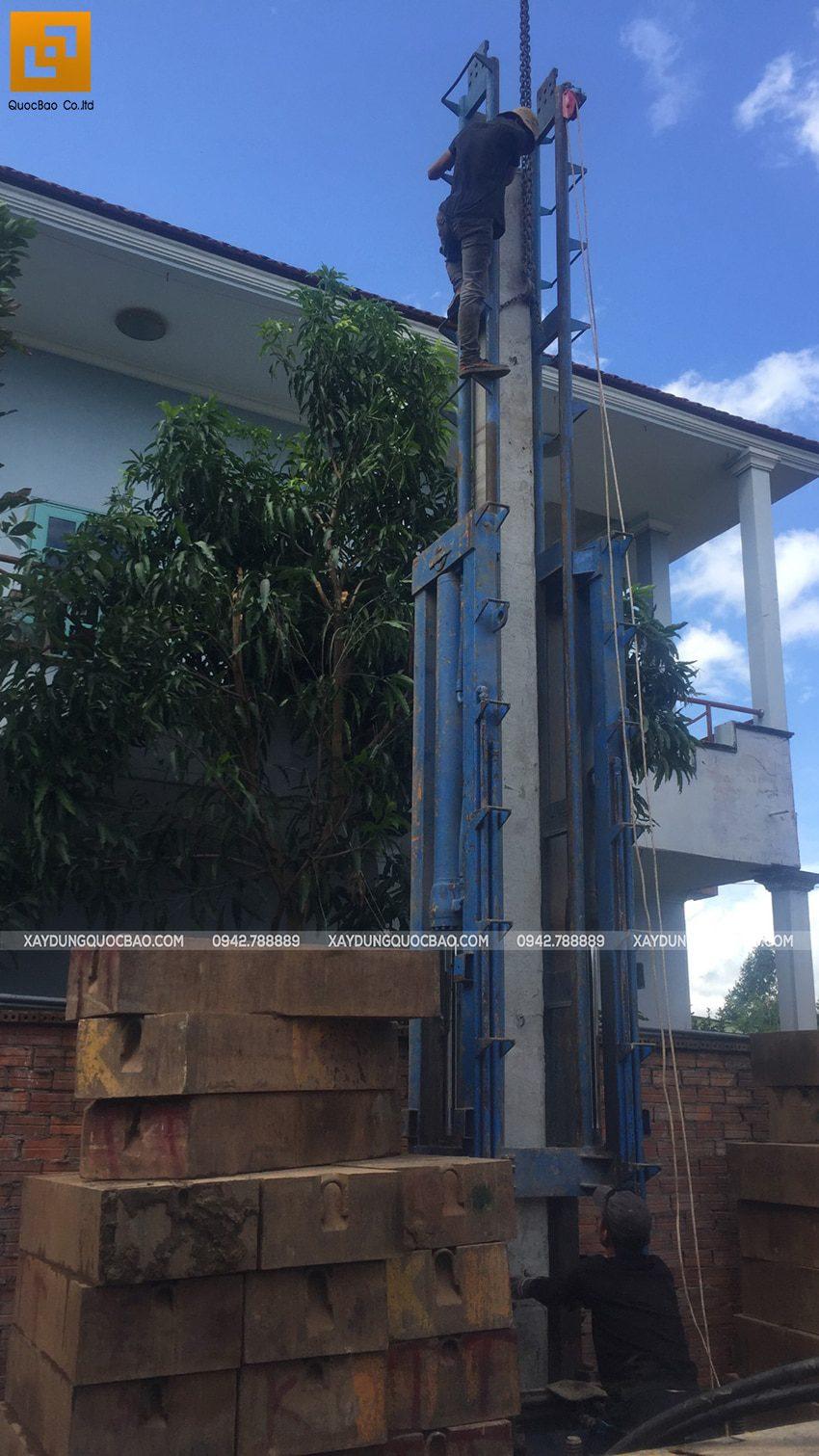 Thi công phần móng biệt thự 3 tầng tại Thủ Dầu Một - Ảnh 3