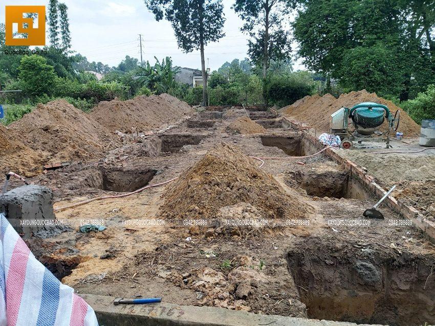 Thi công phần móng nhà 3 tầng tại Nhơn Trạch - Ảnh 1