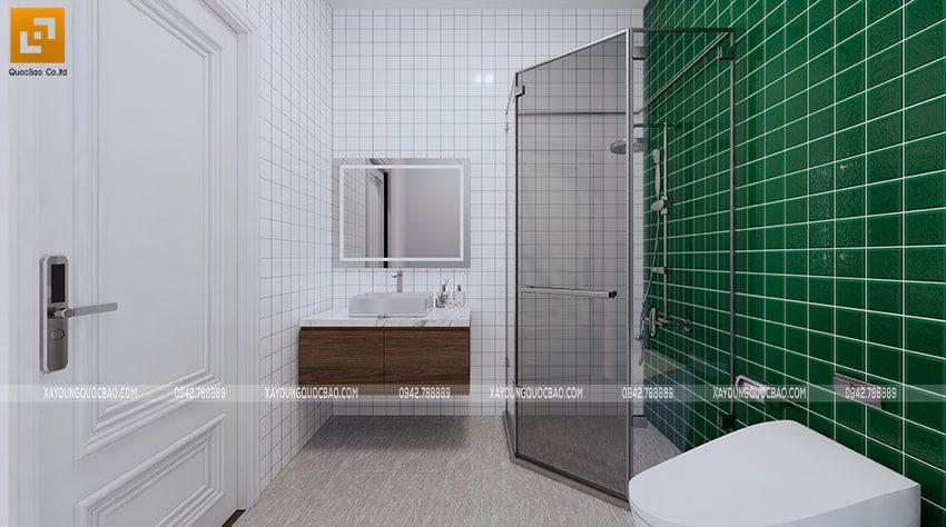 Nội thất phòng tắm kết hợp phòng vệ sinh bên trong phòng ngủ
