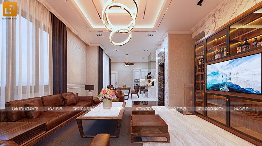 Phối cảnh thiết kế nội thất phòng khách - Ảnh 4