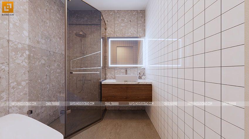 Phòng tắm và phòng vệ sinh tại sân thượng