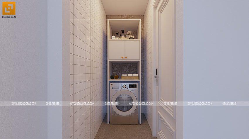 Khu vực bố trí máy giặt