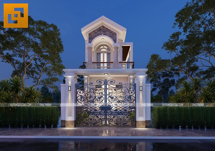 Phối cảnh ngoại thất nhà 2 tầng đẹp tại Vĩnh Cửu - Ảnh 6