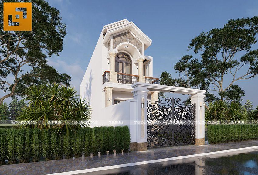 Phối cảnh ngoại thất nhà 2 tầng đẹp tại Vĩnh Cửu - Ảnh 3