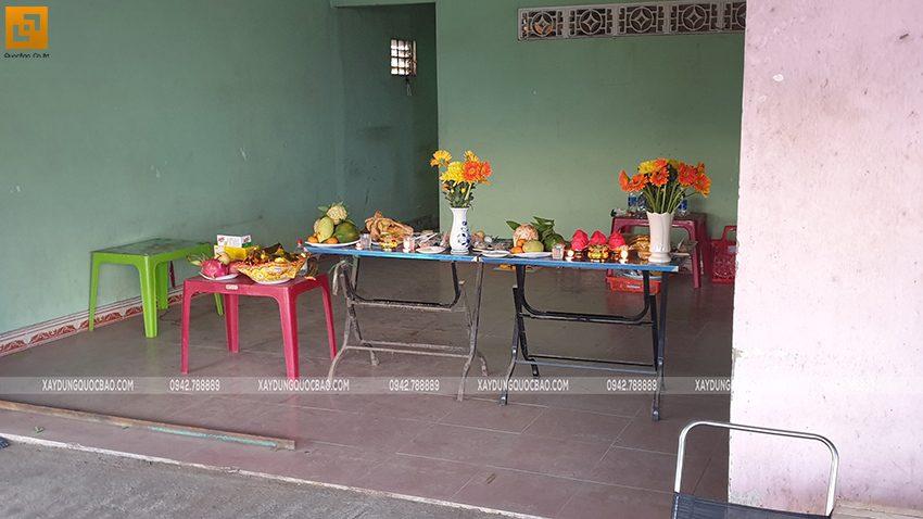 Khởi công nhà mái thái 2 tầng tại Vĩnh Cửu của gia đình anh Nhân - Ảnh 2