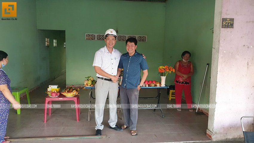 Khởi công nhà mái thái 2 tầng tại Vĩnh Cửu của gia đình anh Nhân - Ảnh 1