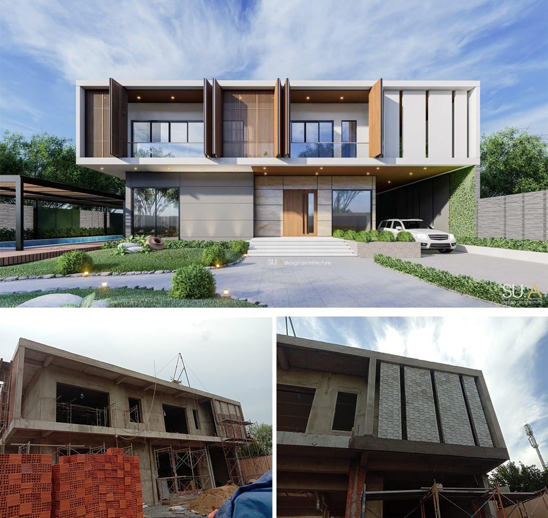 Biệt thự phố 2 tầng đẹp giữa lòng thành phố Biên Hòa gia đình anh Trình
